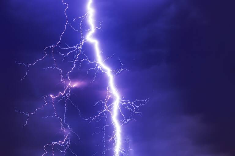 Man struck by electricity from controller: Lightning storm occurred