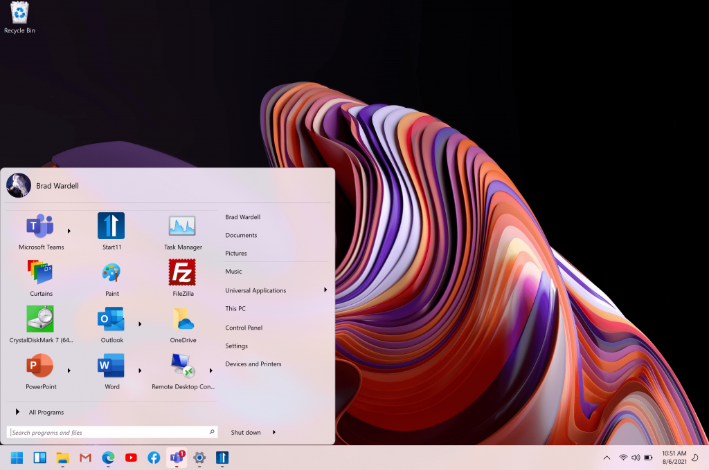 A tool to find a classic Start menu and customize it