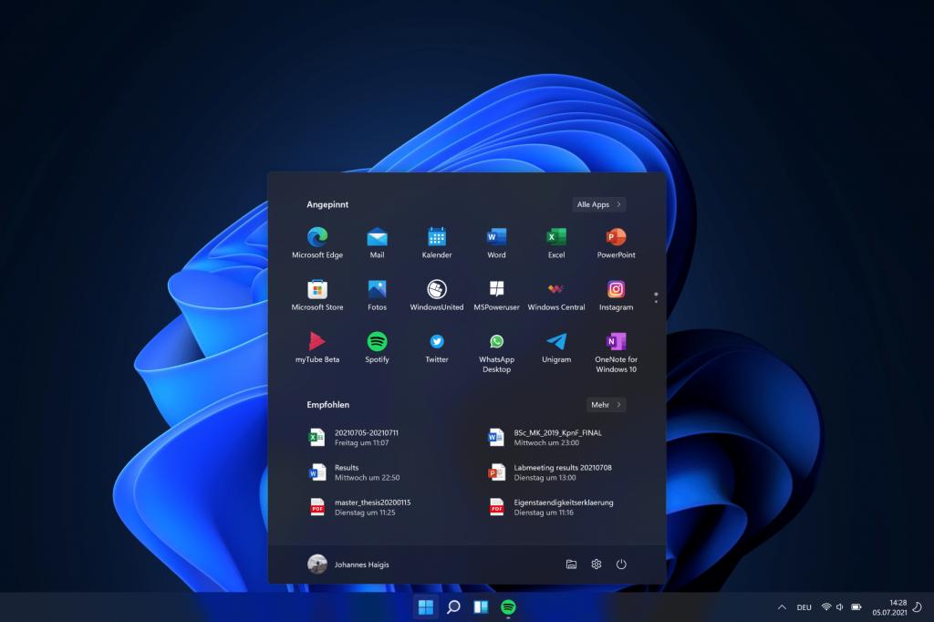 Windows 11: Improvements to the Start Menu and Taskbar