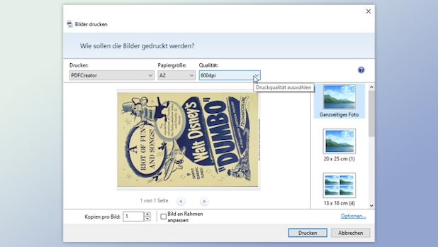 You can prepare the poster as a PDF for the copy shop in the print dialog.