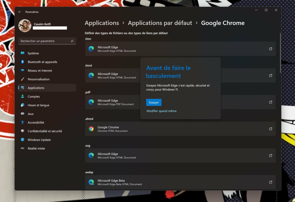 Windows 11 makes it very difficult to change the default browser
