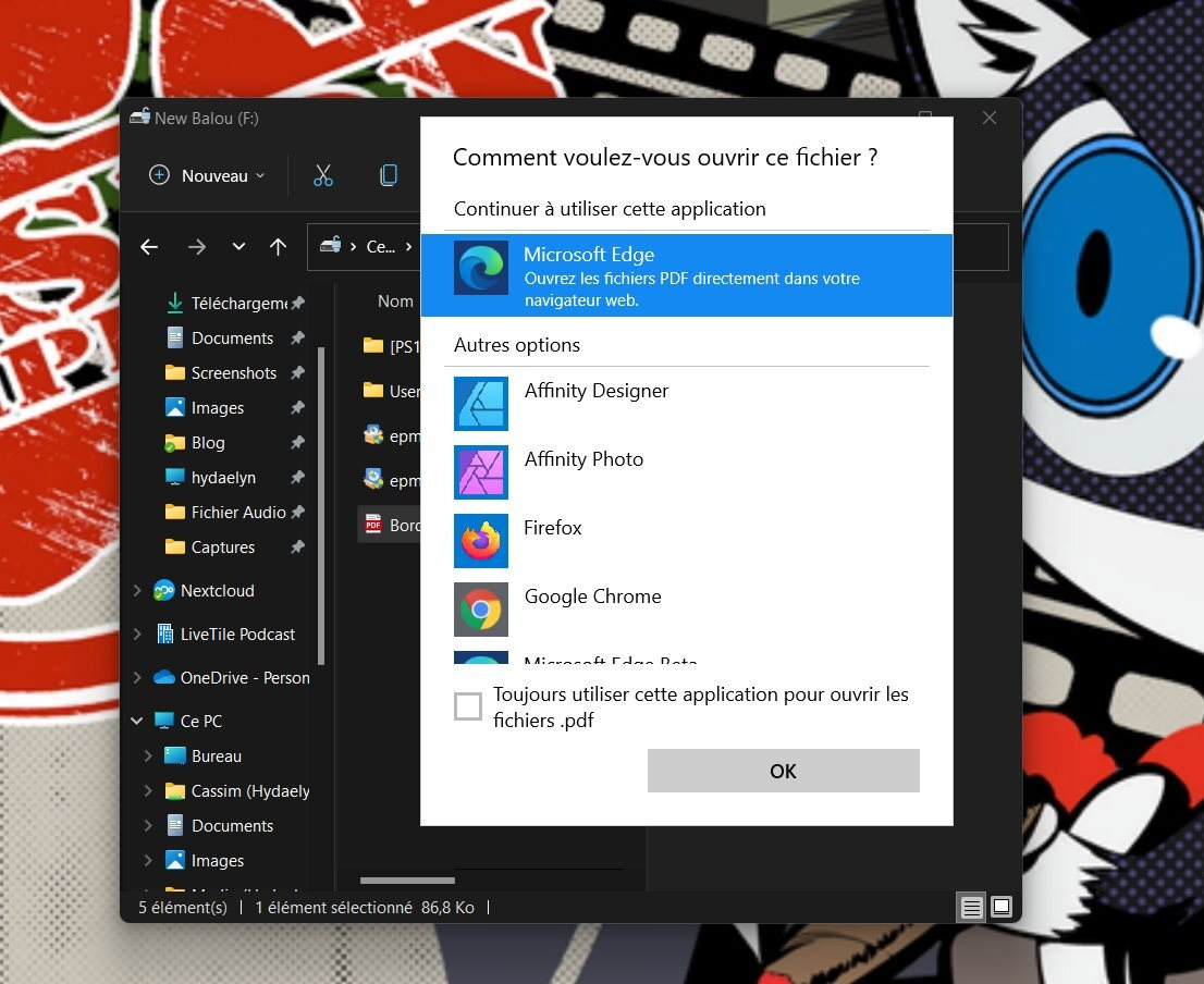 Remember to check the box below to change your default browser in Windows 11