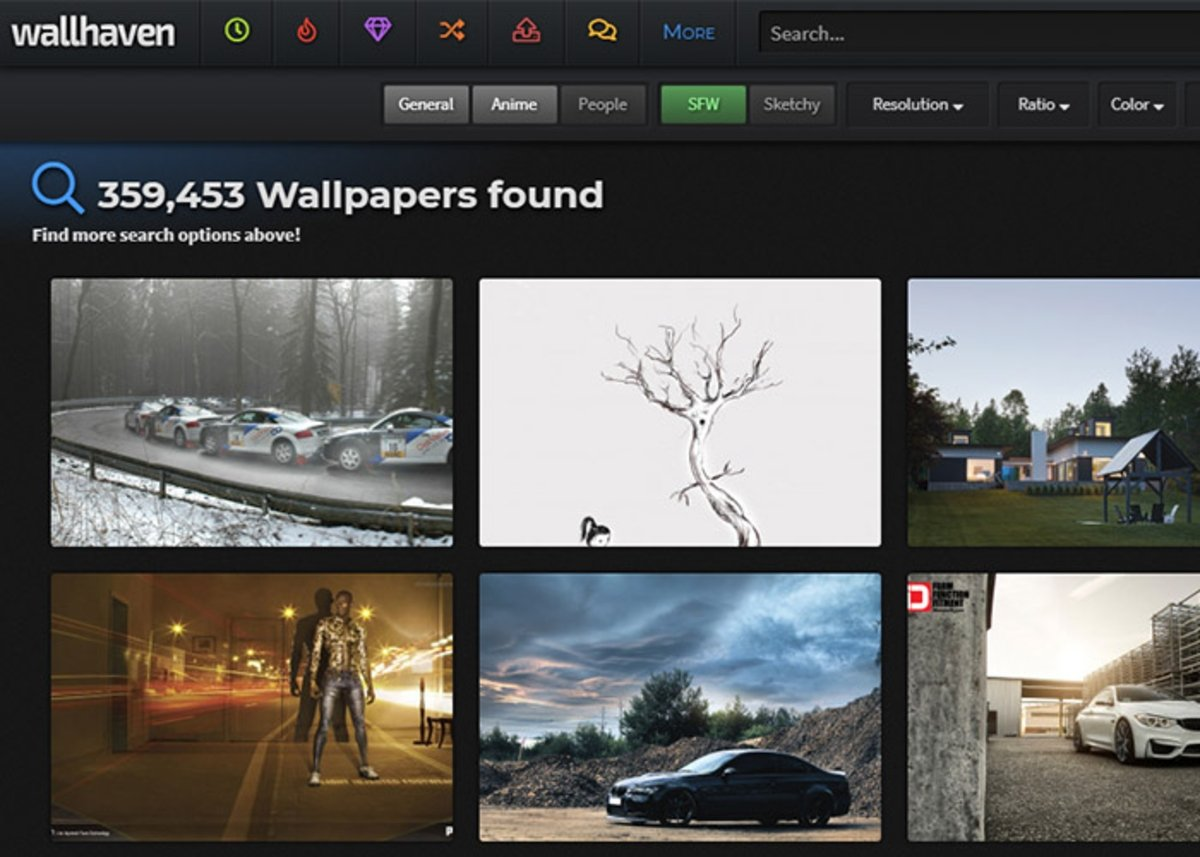 Wallhaven, een van de beste sites om 4K-achtergronden te downloaden