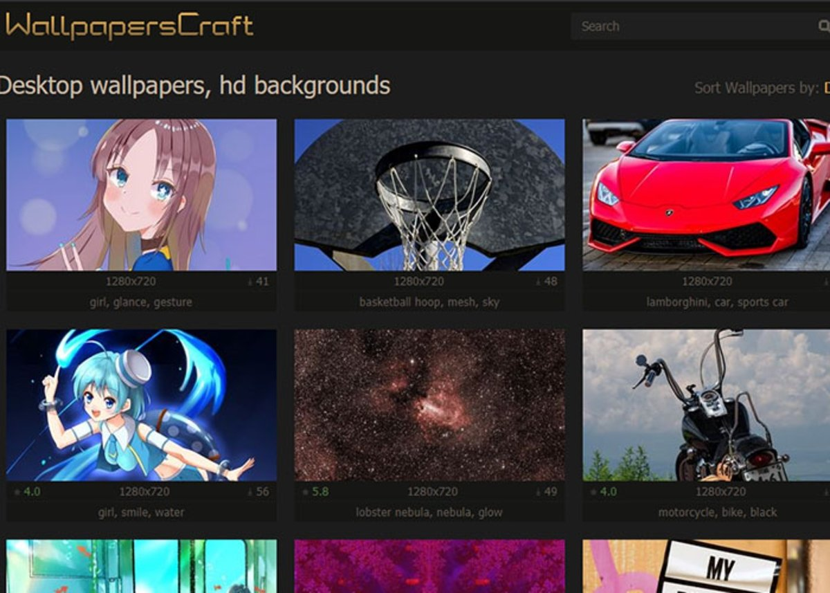 Wallpaper Craft is een van de beste sites om 4K-achtergronden te downloaden