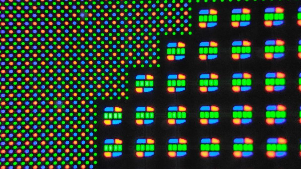 Modified pixel matrix of sub-display camera (fold 3)