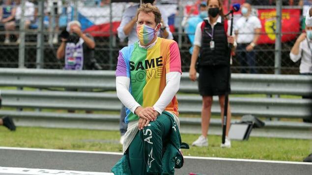 Due to the rainbow t-shirt: Sebastian Vettel was warned by race management - Sports