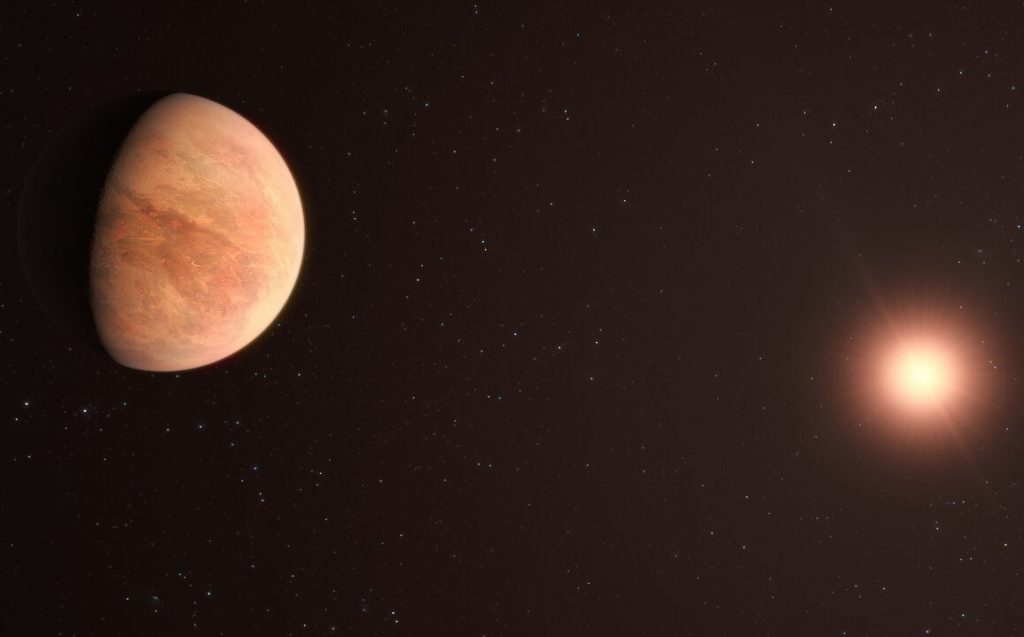Exoplanets weighs half as much as Venus