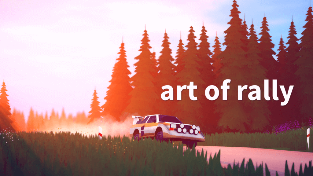 Rally's stylish racing game art gets a release date Nintendo Connect