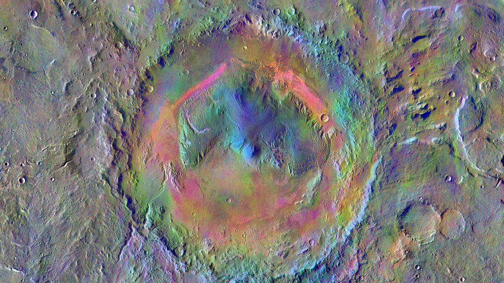 The crater of Mars was more of a pond than a lake
