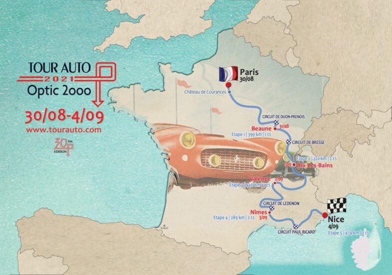 Tour Auto 2021 Route