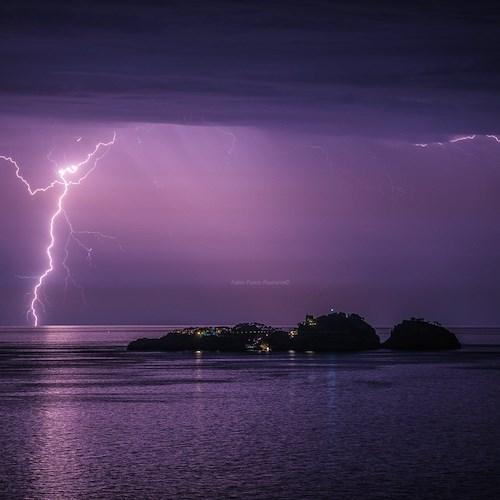 Fabio Fusco's incredible shot, Li Gully glowing with lightning