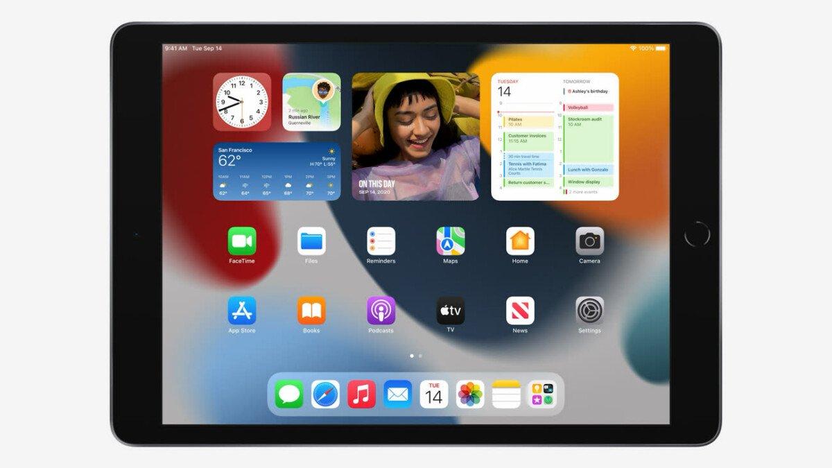 Home page widgets on the new Apple iPad 9 (2021)