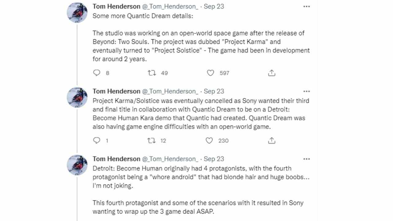 As the Detroit man, the prostitution protagonist removed by Sony