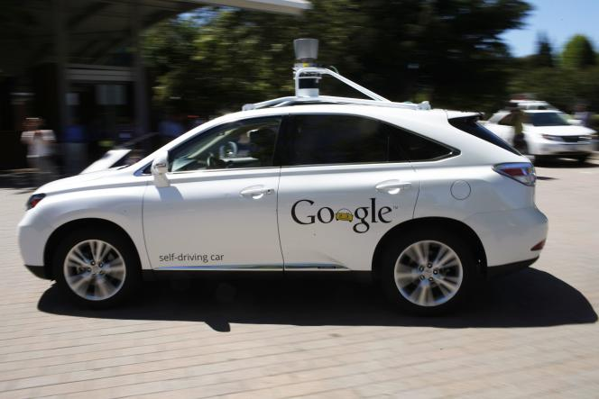 An autonomous car created by Google on May 13, 2014 in Mountain View.