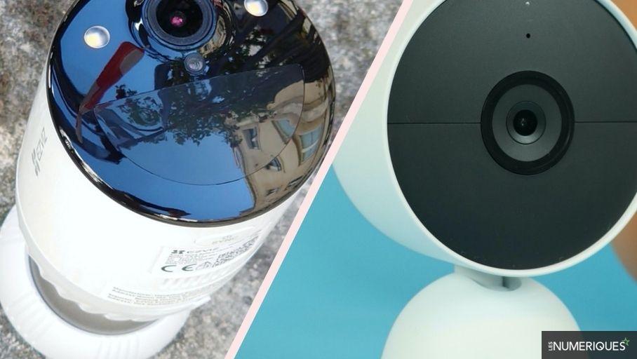 Dual comparison: Nest Cam (battery) vs EZVIZ BC1-B2