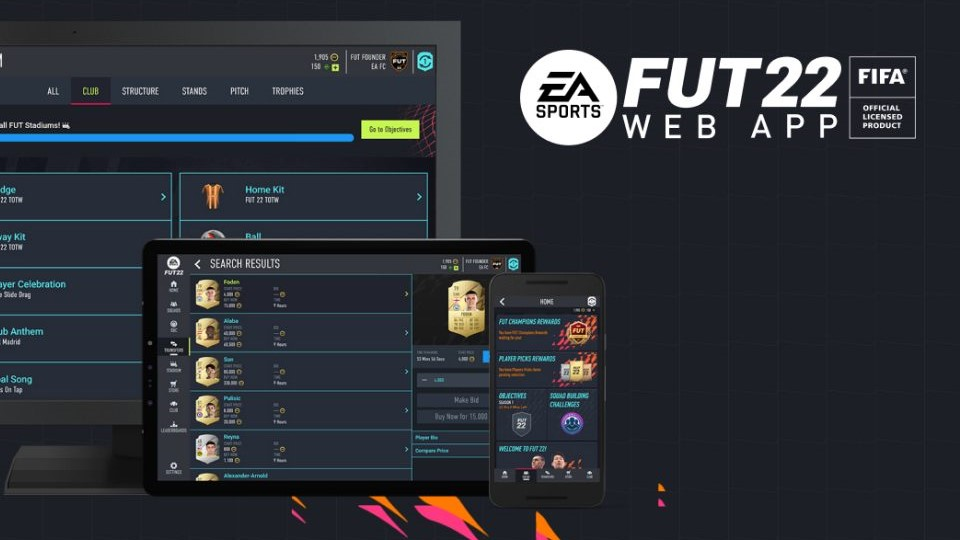 FUT Web Application and Companion Fifa 22, when to download applications?  - Breakflip