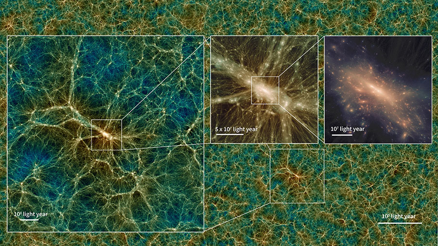 Here you can download a great simulation of the universe
