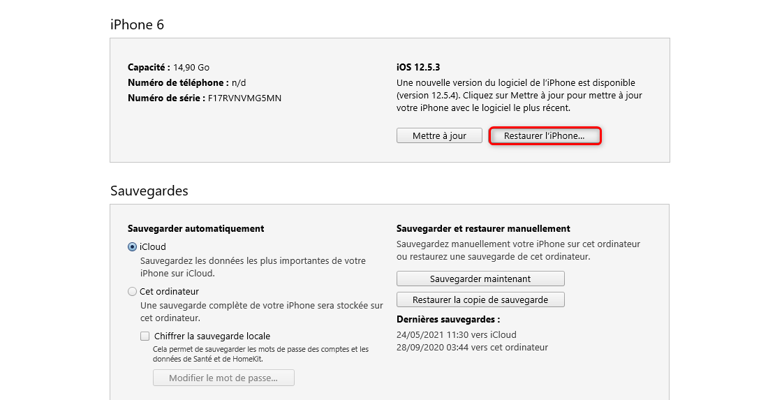 Recover iPhone