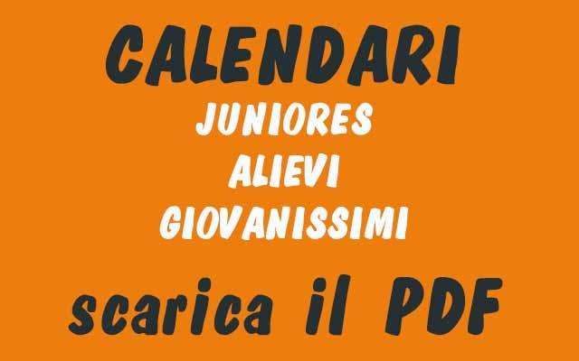 Juniors, Allivi and Giovanisimi.  Download APP and PDF