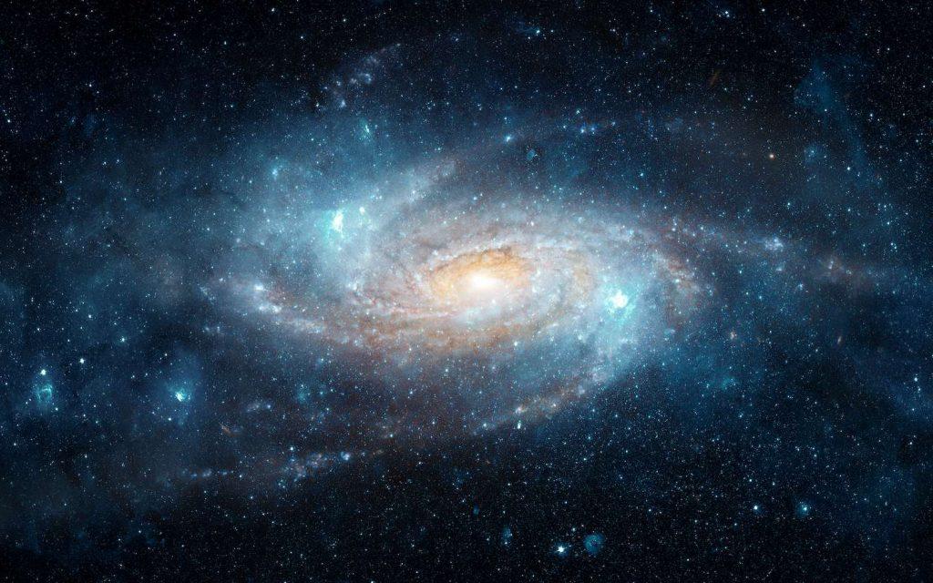 Illustration d'une galaxie spirale comparable à la nôtre, basée sur une image prise par le télescope spatial Hubble. © Tryfonov, Adobe Stock