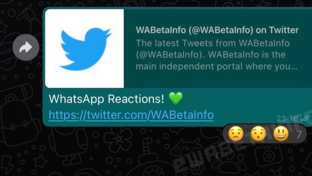 WhatsApp users can quickly respond to messages with emojis.