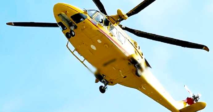 Worker struck by electricity.  Helicopter taken to Barry's Great Burns Center -