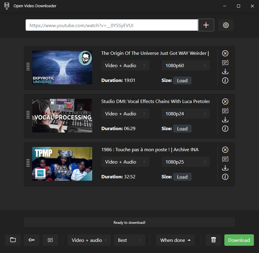 Open the video downloader