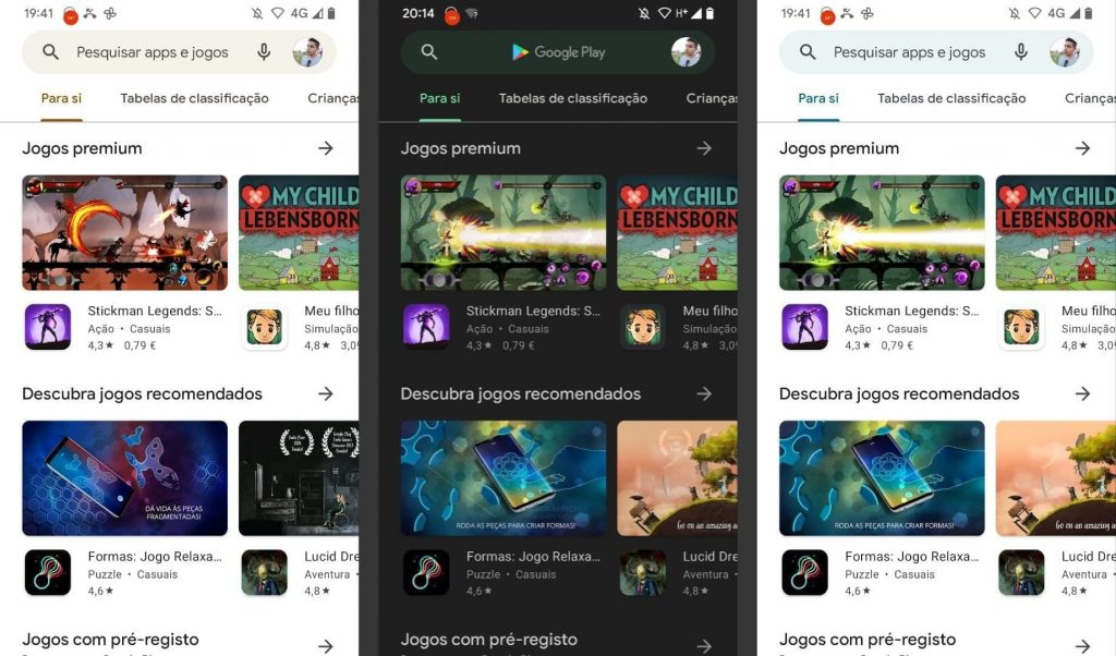 Google Play Store Material U Switch to Colors