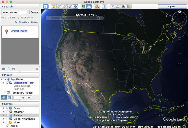 Discover the features of Google Earth Pro for free