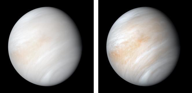 Footage of Venus taken by the American explorer Mariner 10, February 7, 1974.