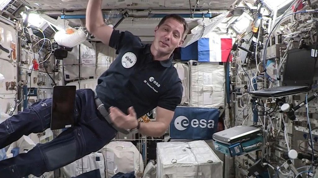 Astronaut Thomas Pesket became the first Frenchman to take charge of the International Space Station