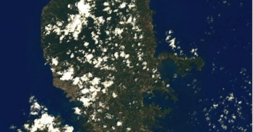 Martinique seen from space by Thomas Peskett