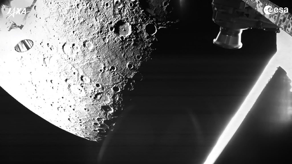 The BepiColombo satellite captured the first images of Mercury